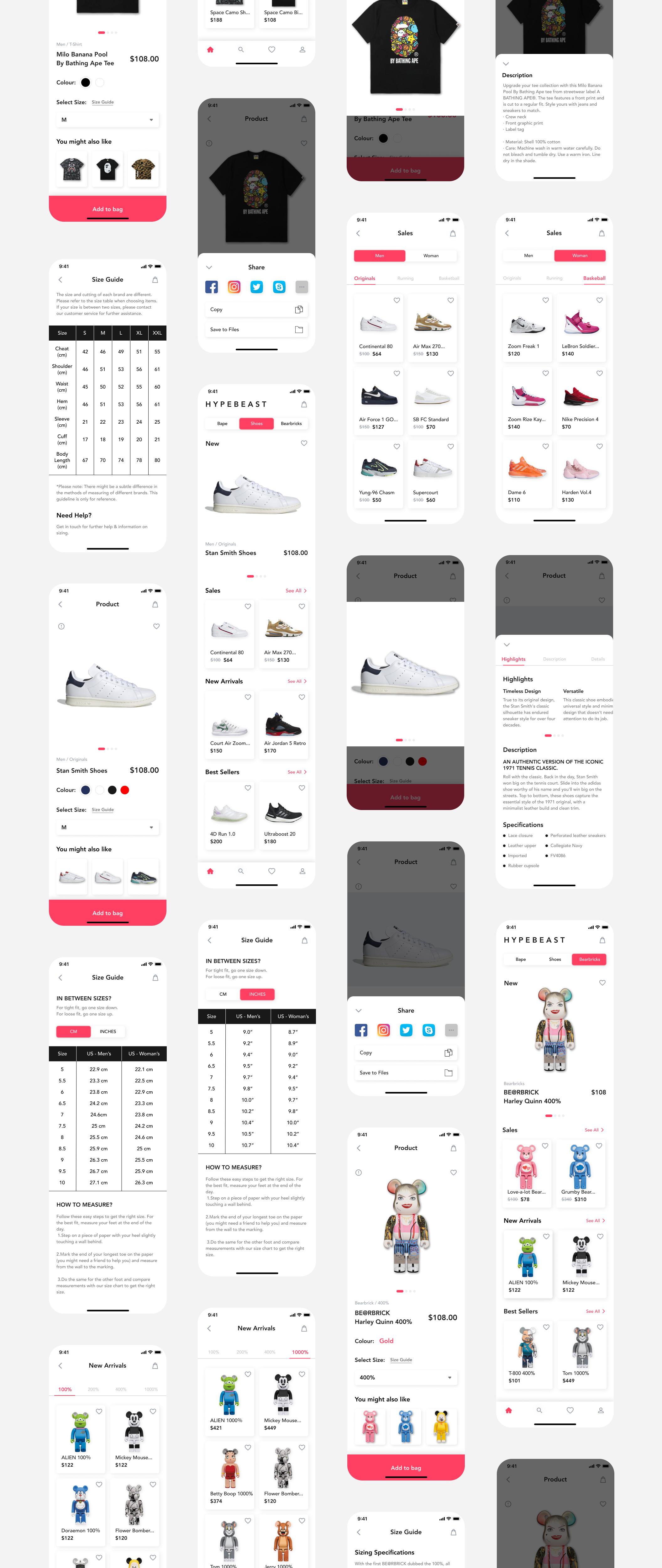 在线购物电子商务应用程序APP UI套件FIG模板 HypeBeast – E-commerce App UI Kit插图(9)