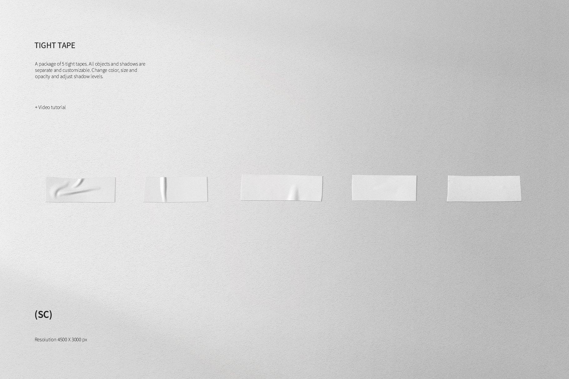 55款高清不干胶胶带贴纸PNG透明免抠图片素材 Tape Creator插图(4)