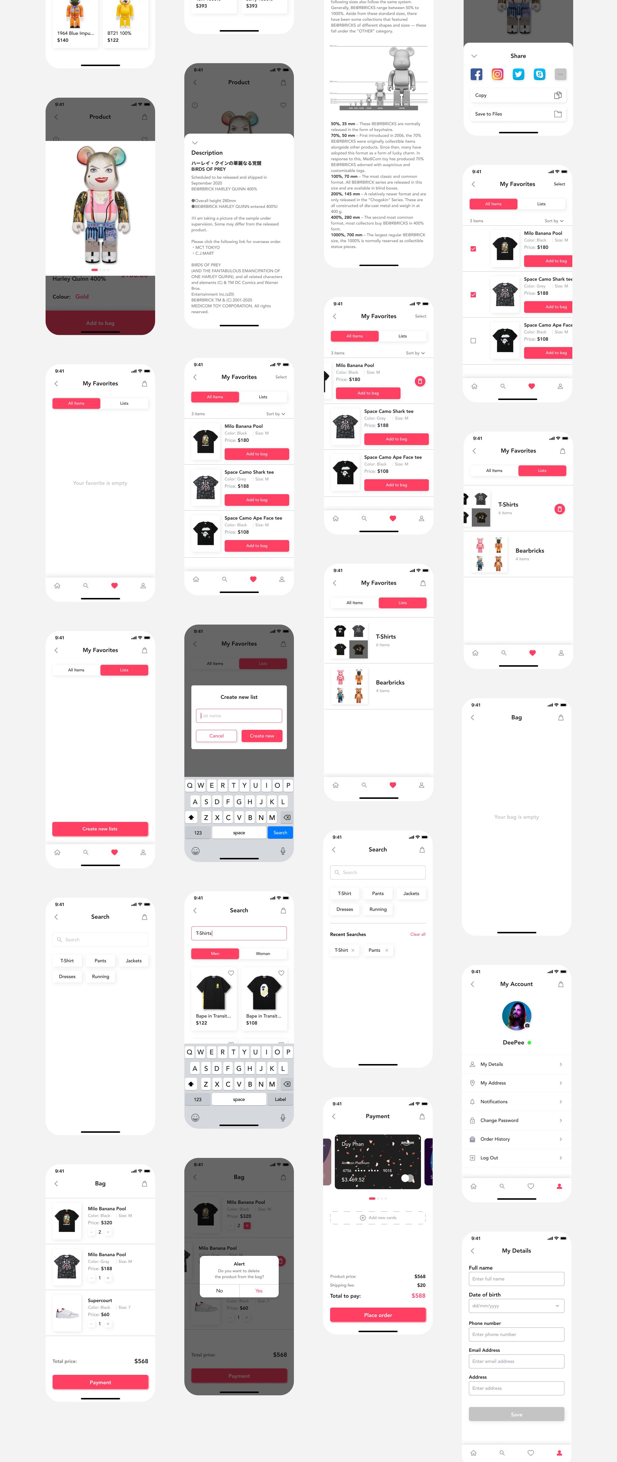 在线购物电子商务应用程序APP UI套件FIG模板 HypeBeast – E-commerce App UI Kit插图(10)