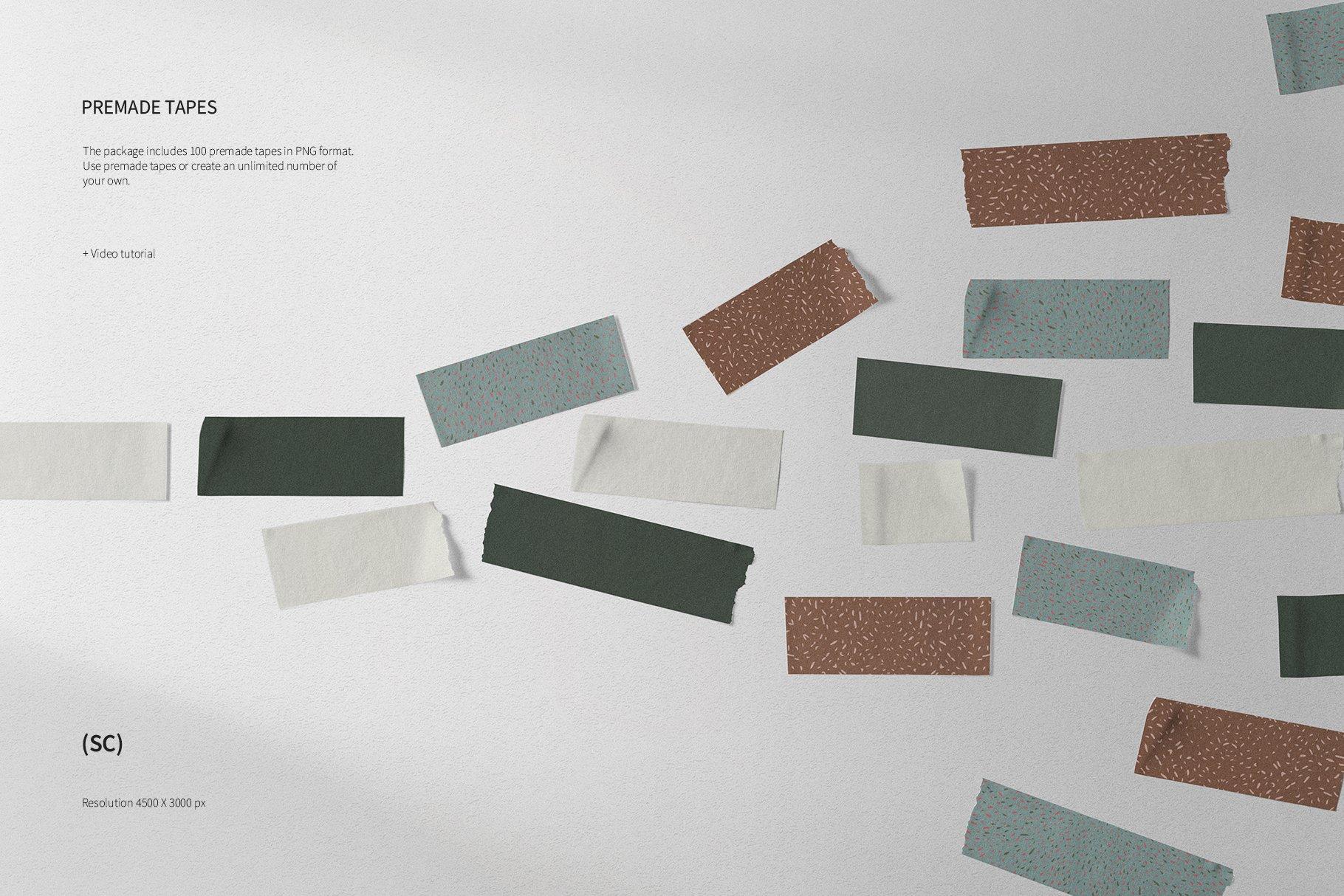 55款高清不干胶胶带贴纸PNG透明免抠图片素材 Tape Creator插图(6)