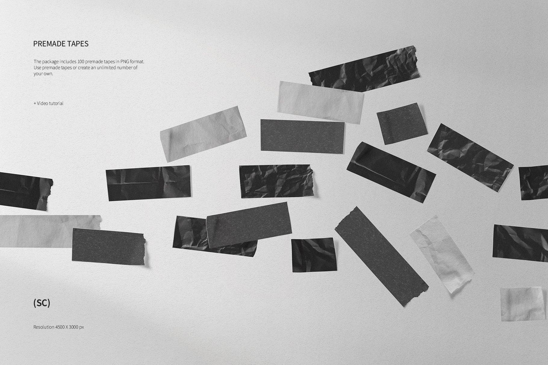 55款高清不干胶胶带贴纸PNG透明免抠图片素材 Tape Creator插图(7)