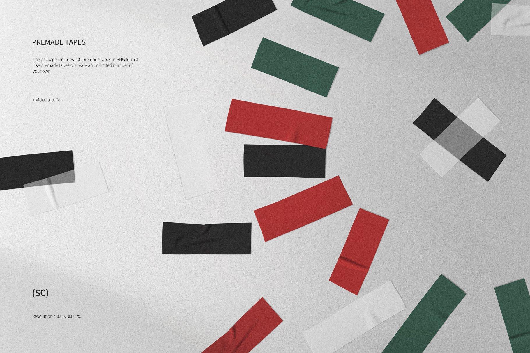 55款高清不干胶胶带贴纸PNG透明免抠图片素材 Tape Creator插图(8)