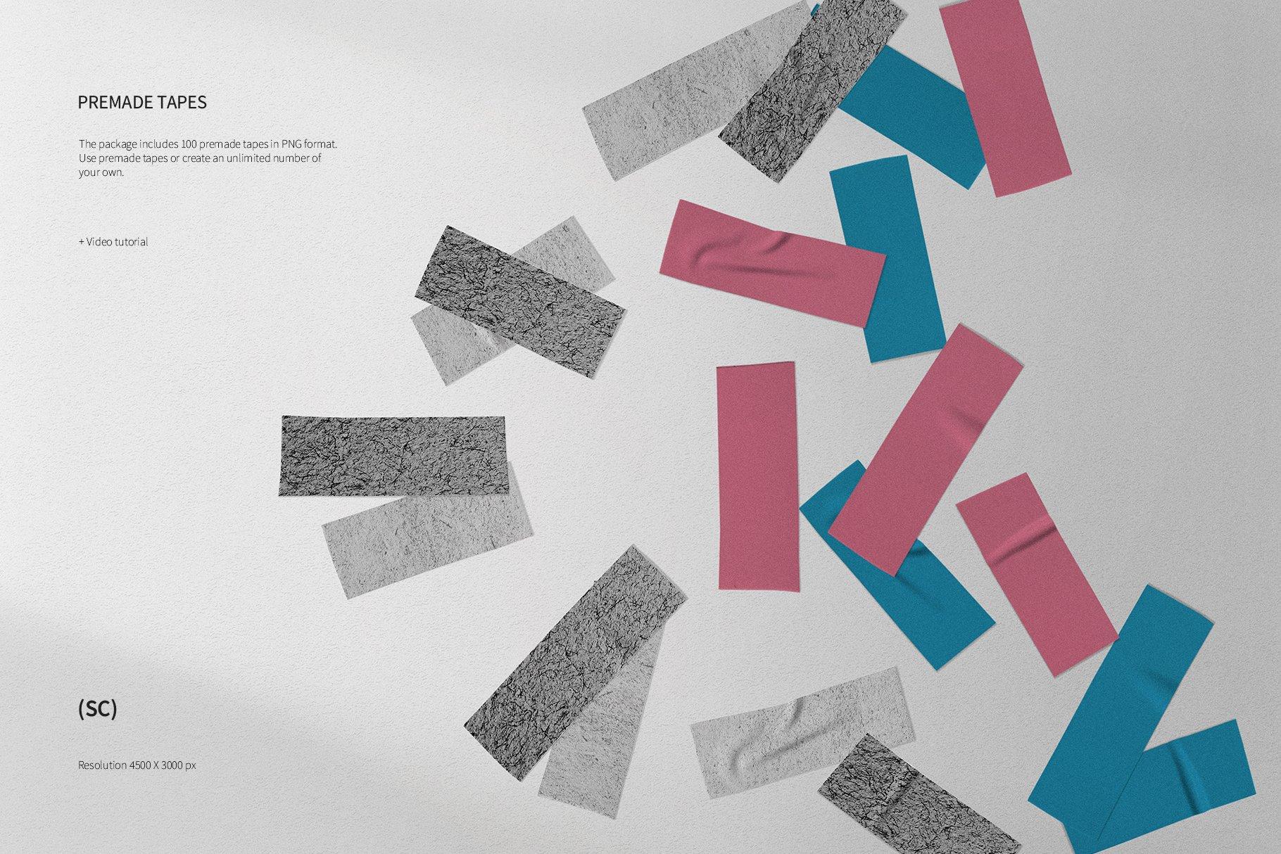 55款高清不干胶胶带贴纸PNG透明免抠图片素材 Tape Creator插图(9)