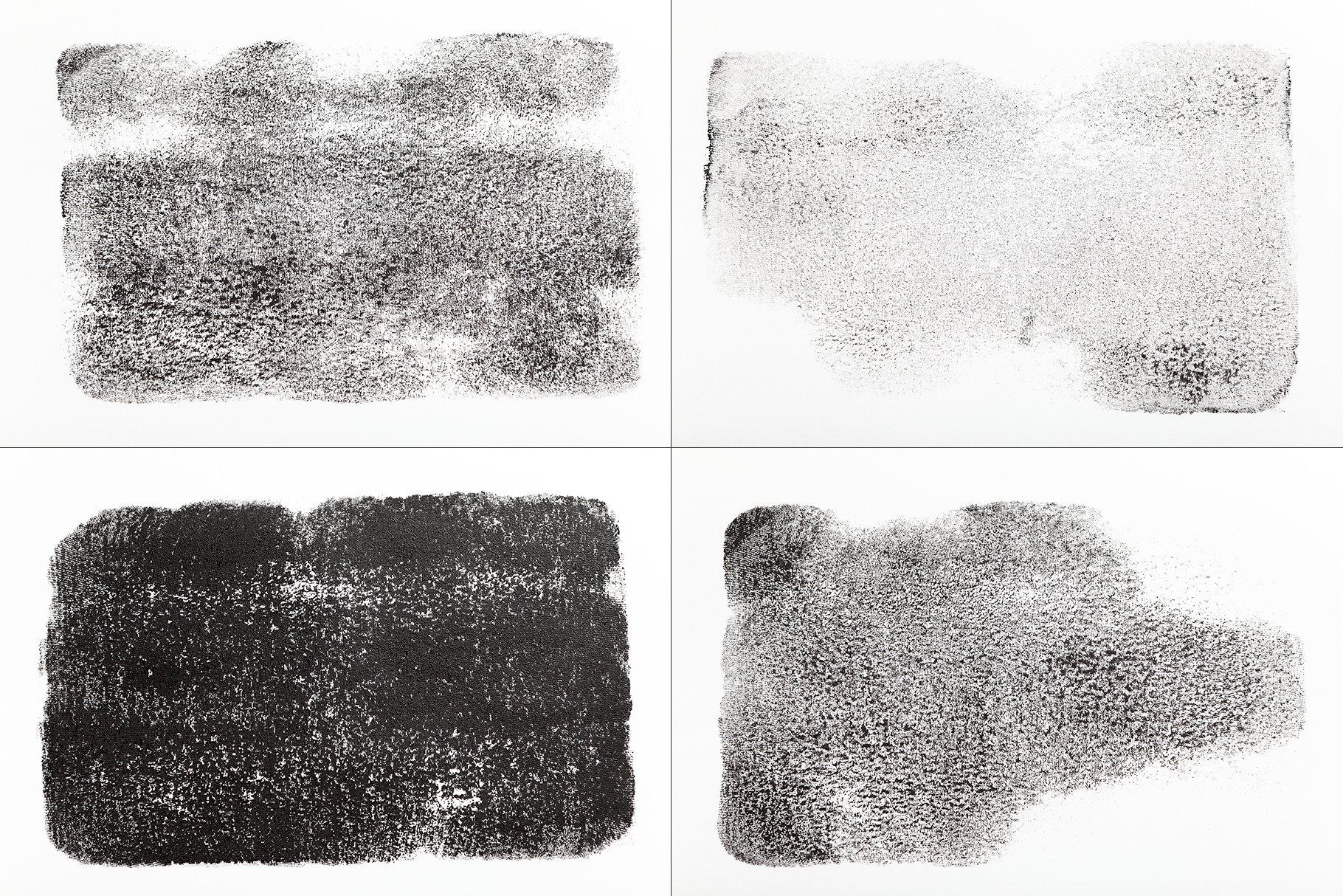 15款高清黑色织物压印效果背景PNG免抠图片素材 15 Black Fabric Imprint Textures插图(1)