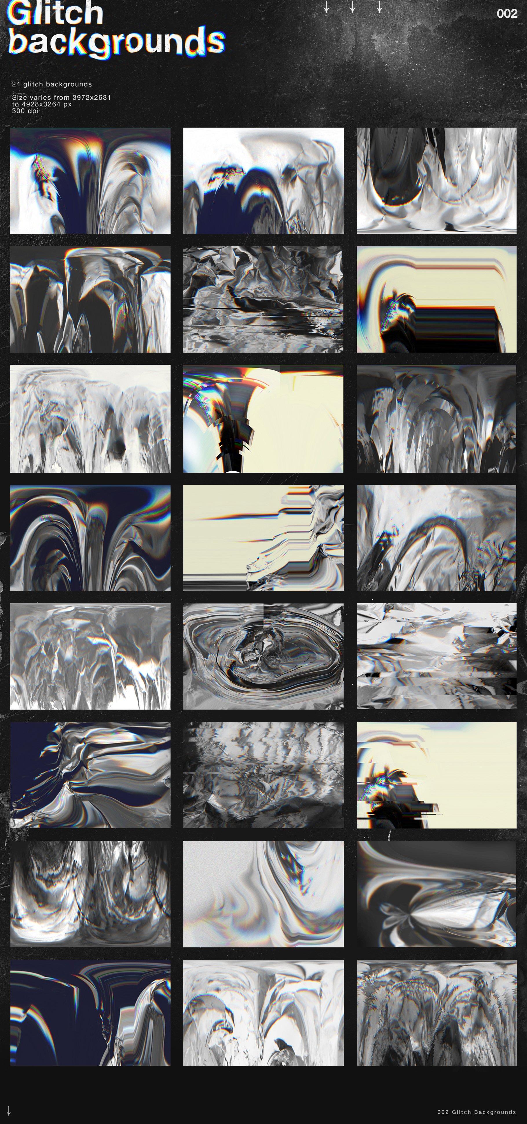 [淘宝购买] 潮流抽象故障扭曲网格塑料薄膜海报设计背景纹理素材 Grunge&Glitch – Toolkit 7in1插图(3)