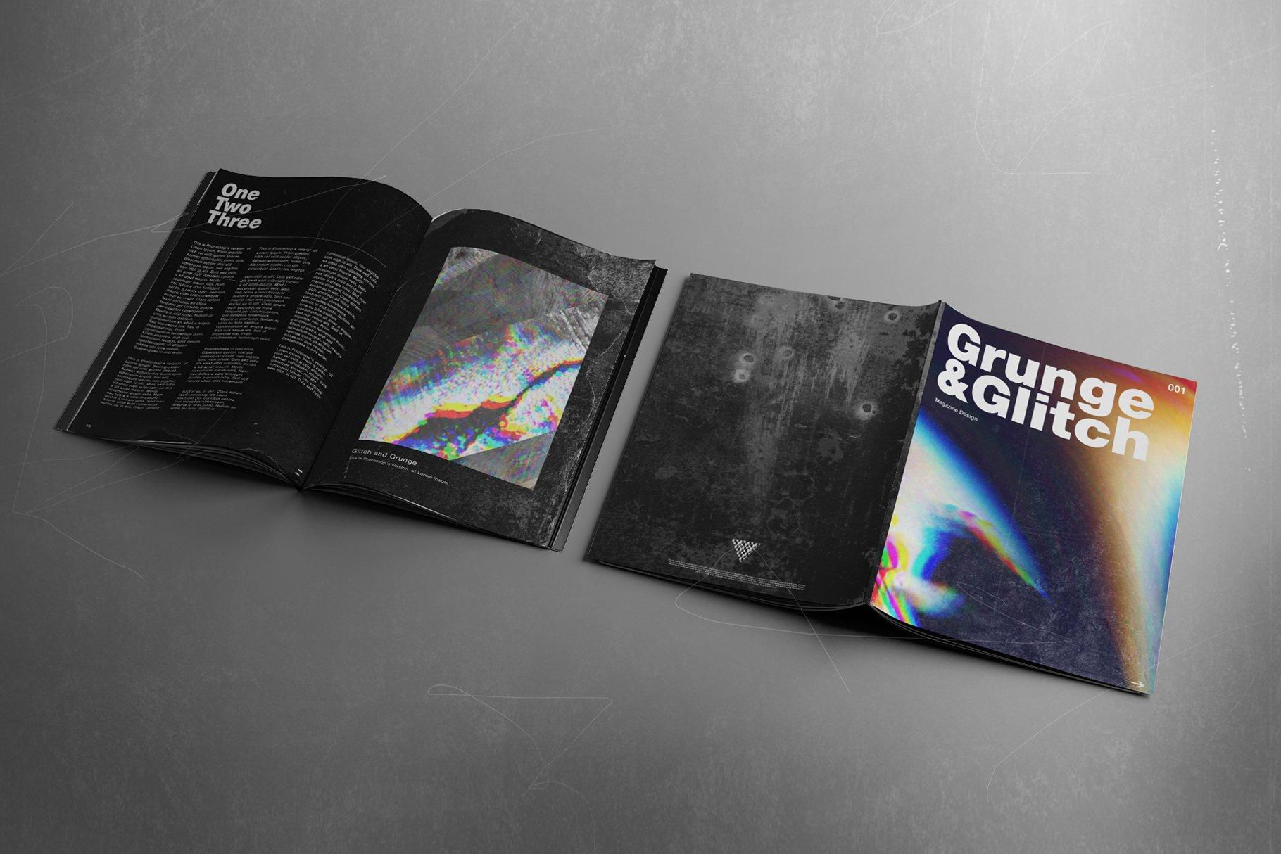 [淘宝购买] 潮流抽象故障扭曲网格塑料薄膜海报设计背景纹理素材 Grunge&Glitch – Toolkit 7in1插图(9)