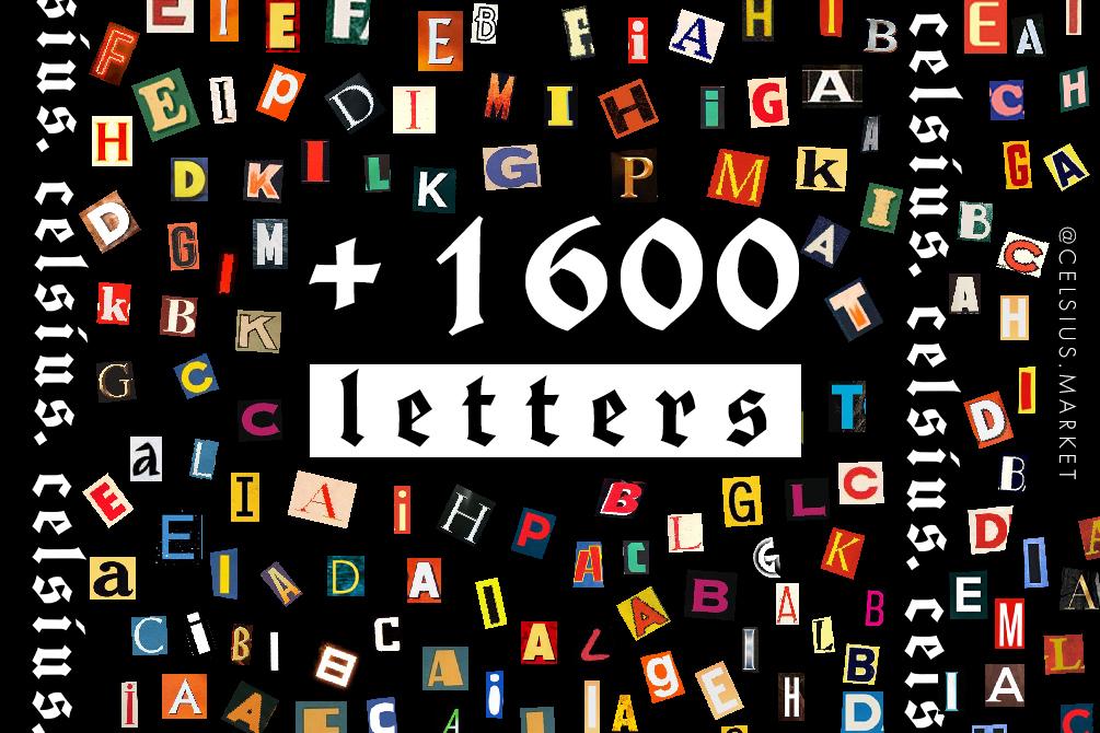 [淘宝购买] 1600多个多样式英文字母标志设计PSD背景素材 Letters插图