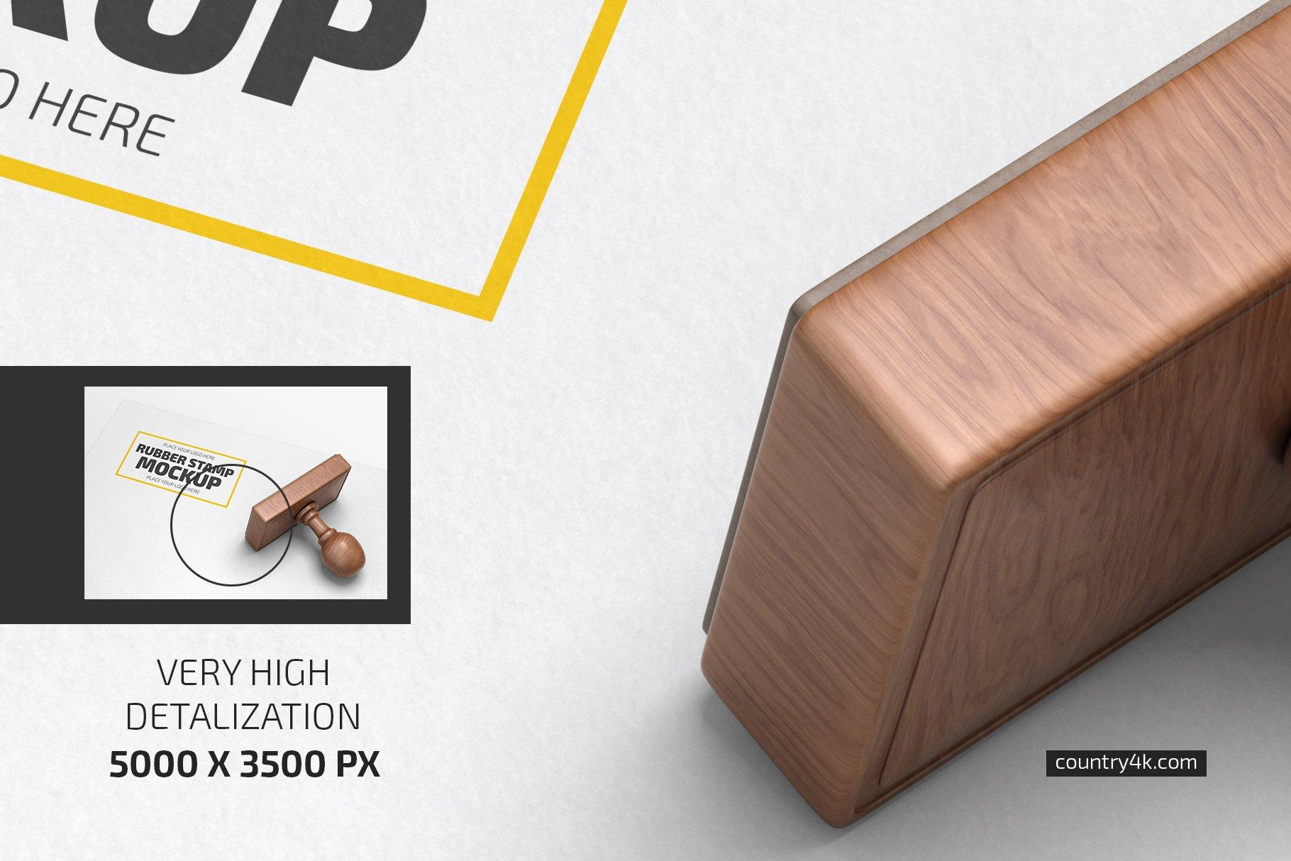 矩形图章设计展示样机模板合集 Rubber Stamp Mockup Set插图(2)