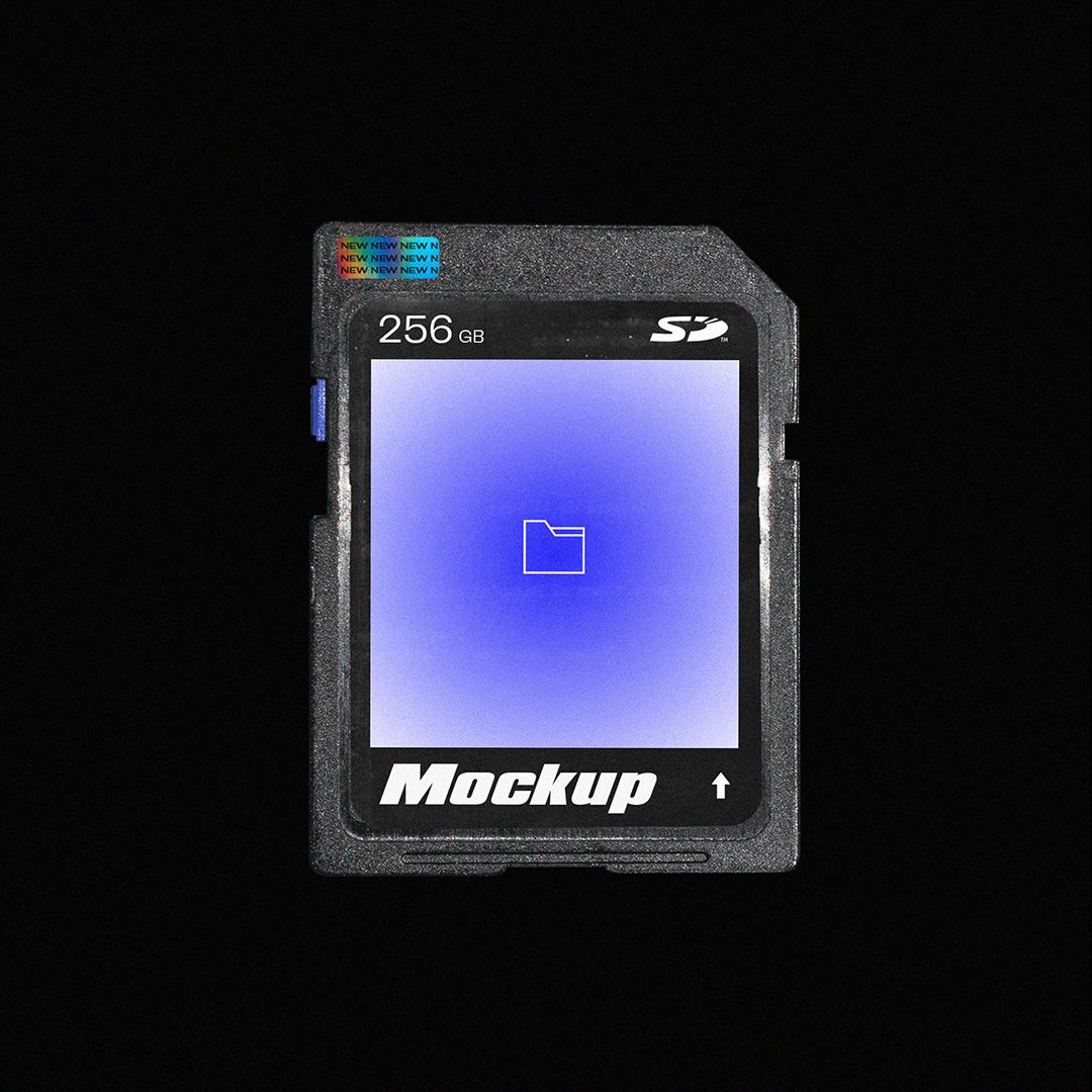 [淘宝购买] SD存储卡塑料袋包装盒设计展示样机合集 SD Card Mockup Pack插图(1)