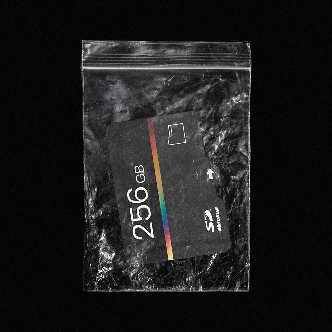 [淘宝购买] SD存储卡塑料袋包装盒设计展示样机合集 SD Card Mockup Pack插图(2)