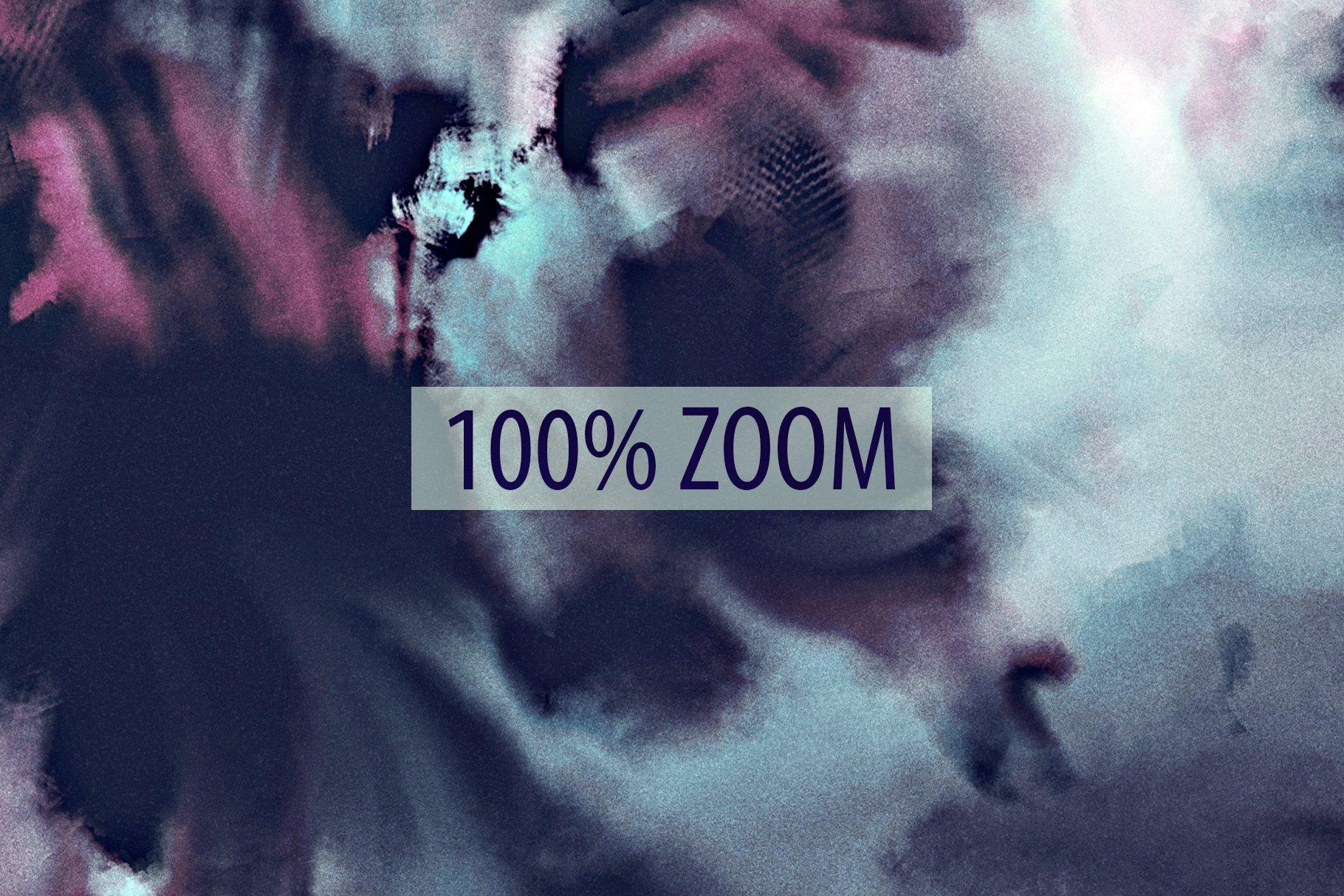 抽象紫色海军蓝绿色调丙烯酸油漆笔刷背景纹理图片素材 Brushstroke Textures Collection插图(14)