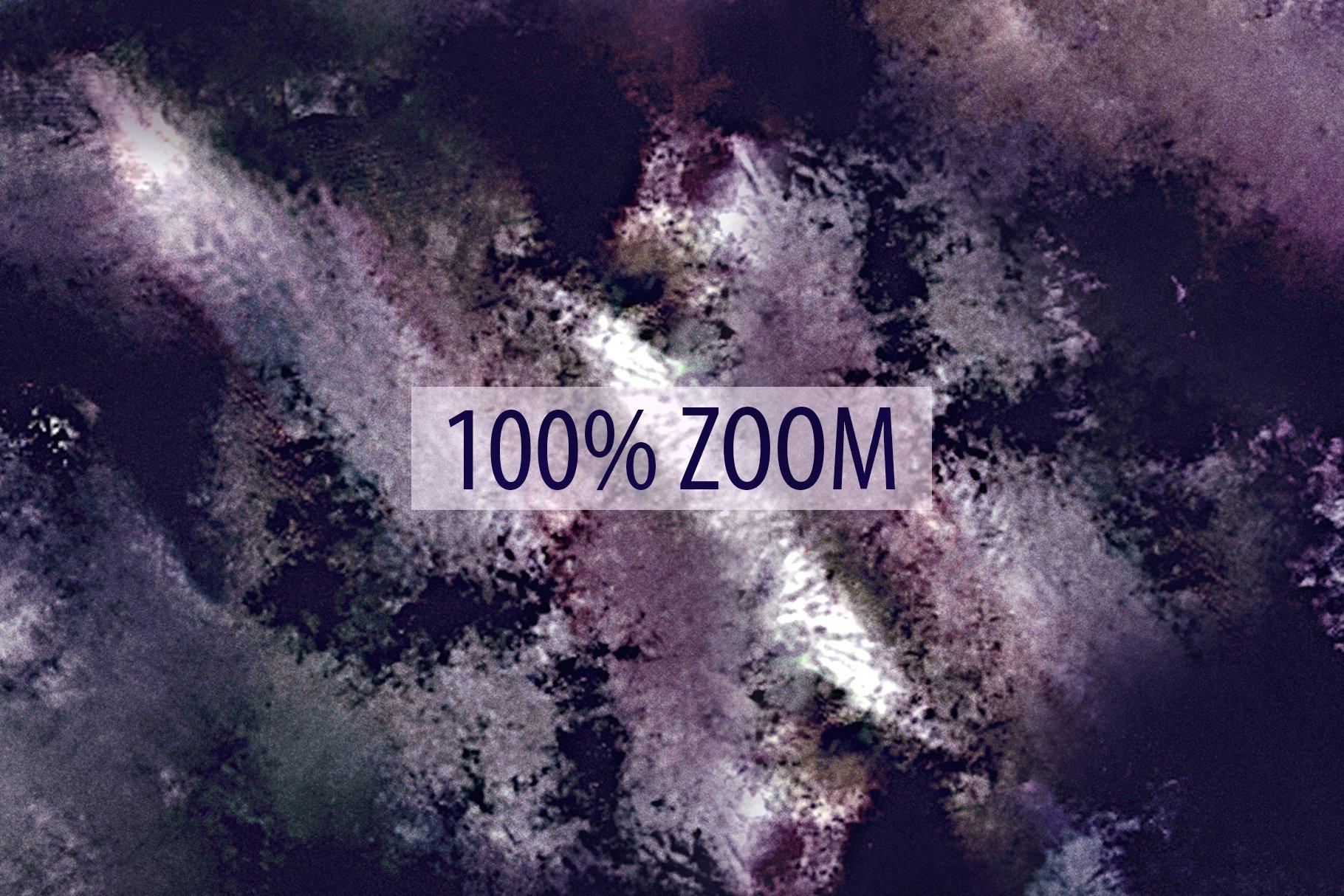 抽象紫色海军蓝绿色调丙烯酸油漆笔刷背景纹理图片素材 Brushstroke Textures Collection插图(15)
