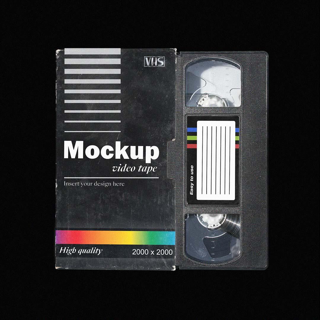 [淘宝购买] 多角度做旧复古磁带纸盒设计展示样机合集 VHS Tape Mockup Pack插图(1)