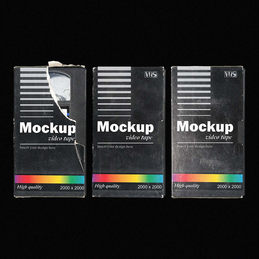 [淘宝购买] 多角度做旧复古磁带纸盒设计展示样机合集 VHS Tape Mockup Pack插图(2)