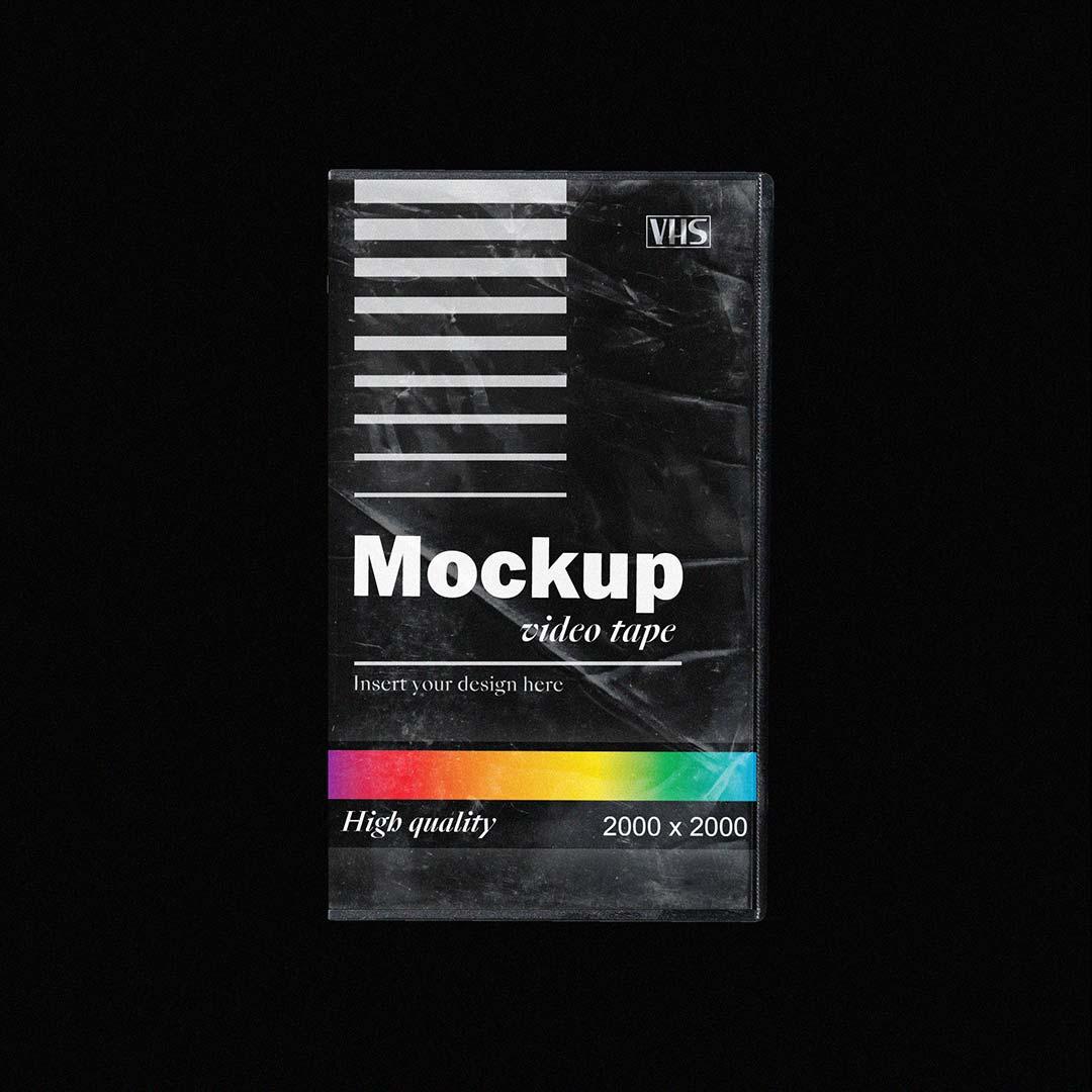 [淘宝购买] 多角度做旧复古磁带纸盒设计展示样机合集 VHS Tape Mockup Pack插图(3)