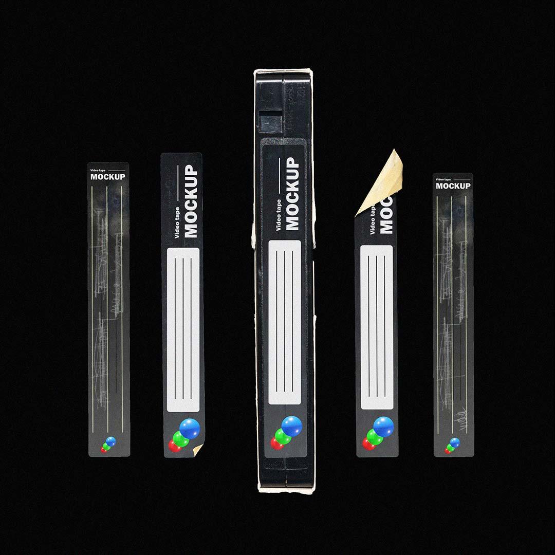 [淘宝购买] 多角度做旧复古磁带纸盒设计展示样机合集 VHS Tape Mockup Pack插图(5)