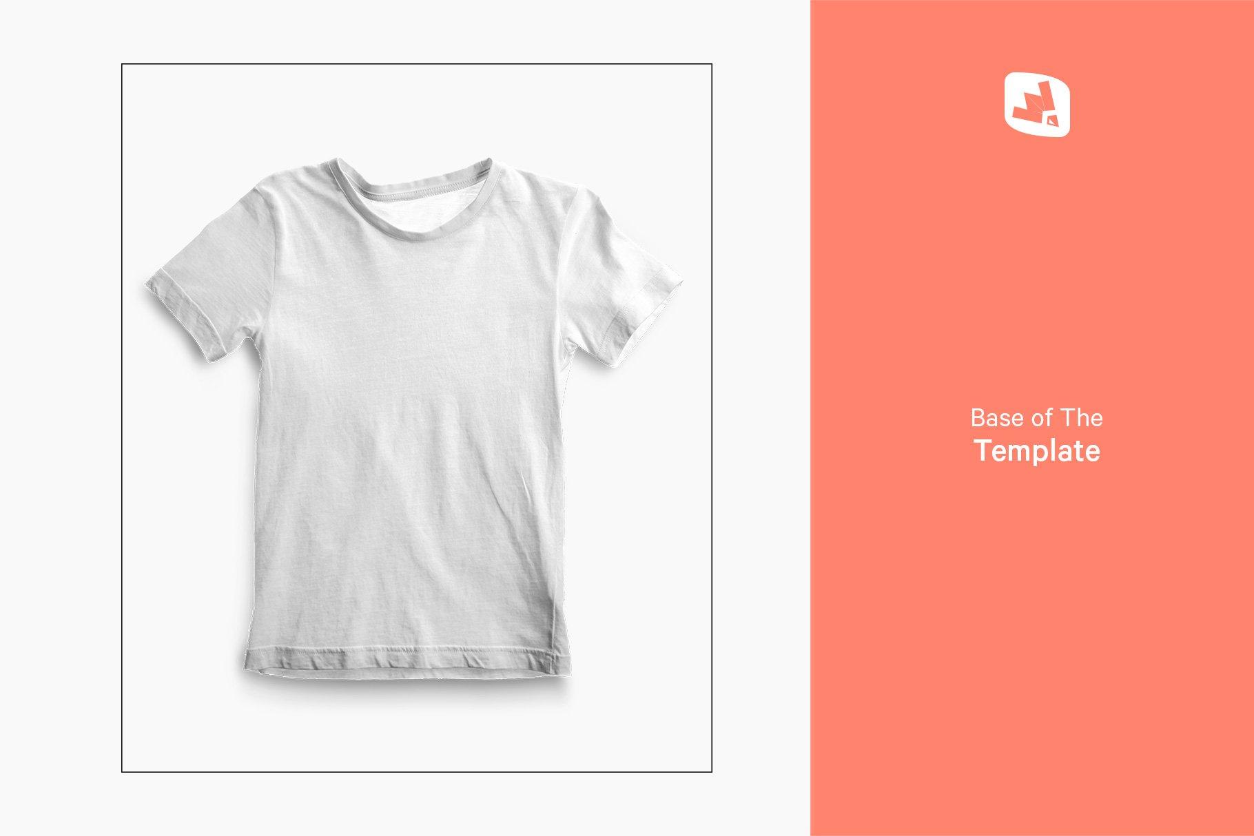 顶视图男孩夏季半袖T恤衫样机模板 Top view Boy's Summer Tshirt Mockup插图(9)