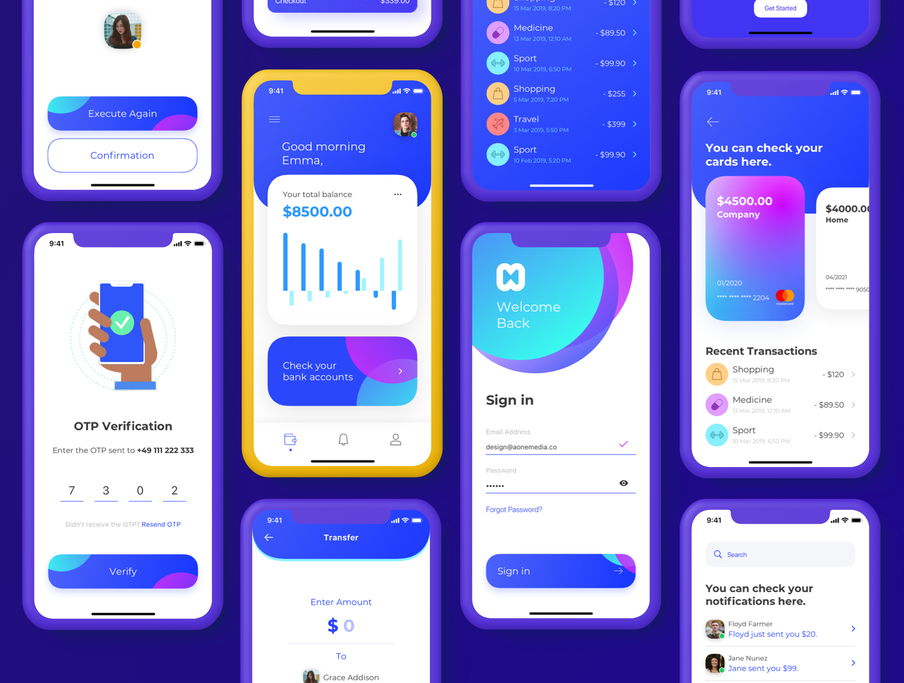 现代财务电子钱包APP应用程序UI套件 Money App UI Kit插图(3)