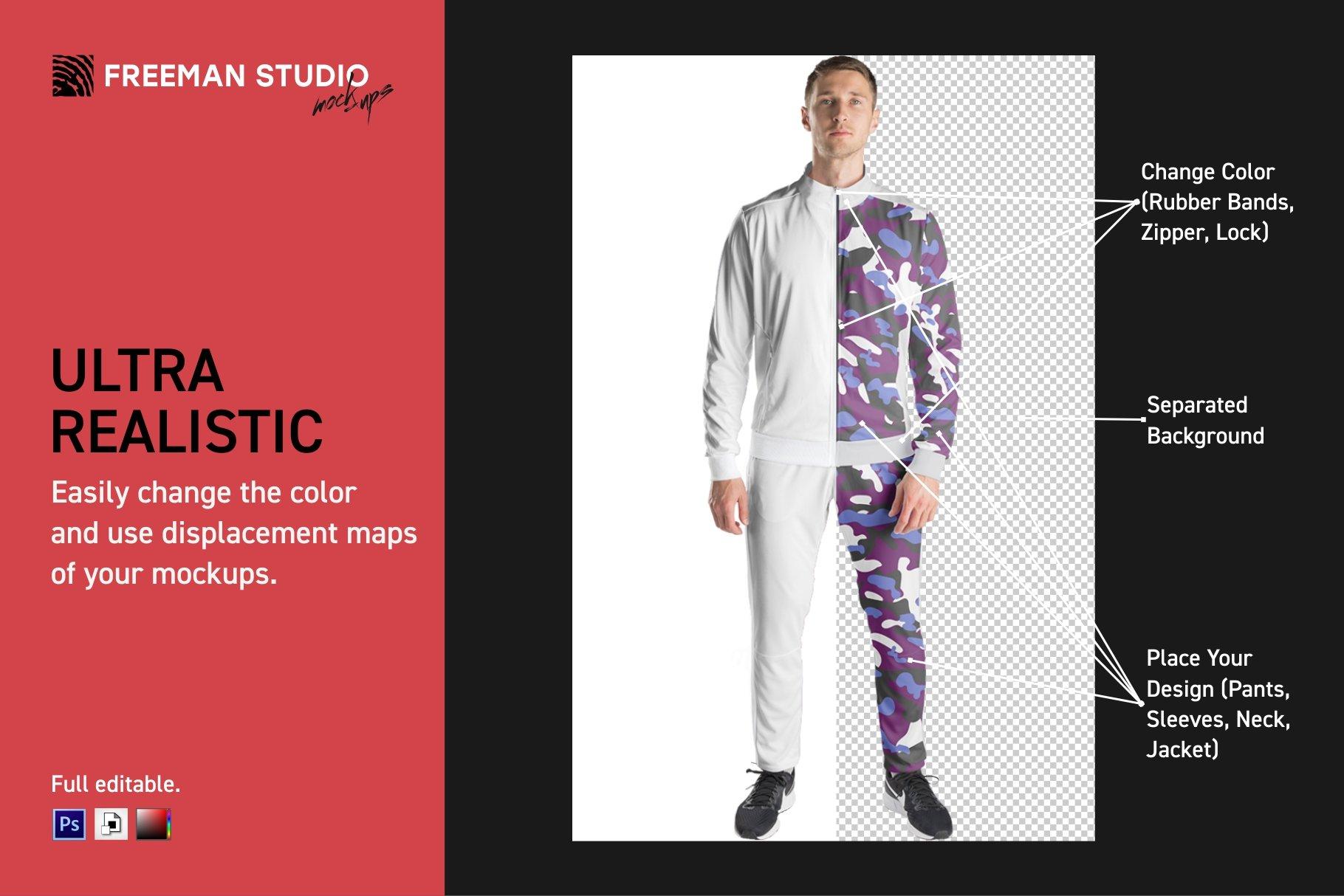 男士运动服饰设计展示样机模板 Sport Apparel Mockup Set插图(2)