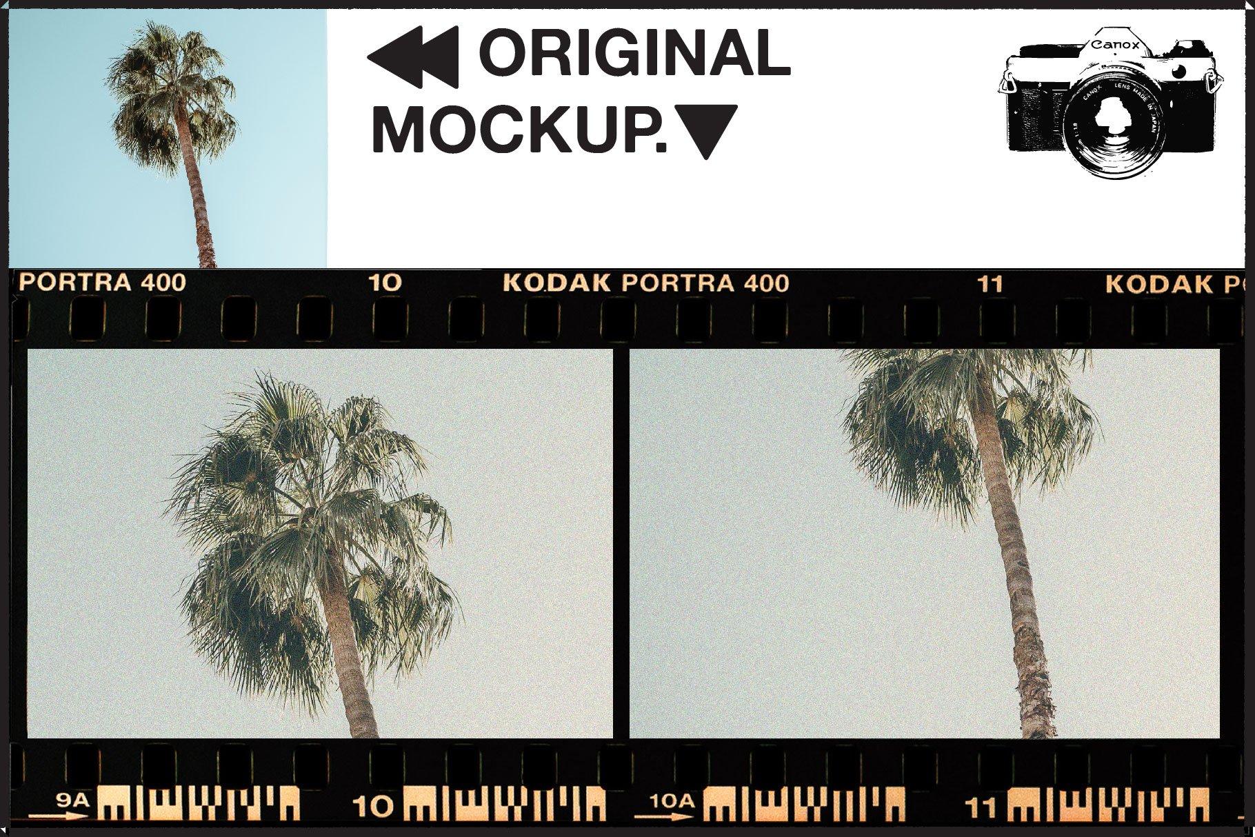 复古老式胶片胶卷边框图层叠加样机照片处理动作模板 Vintage Film Photo Mockup Bundle插图(1)