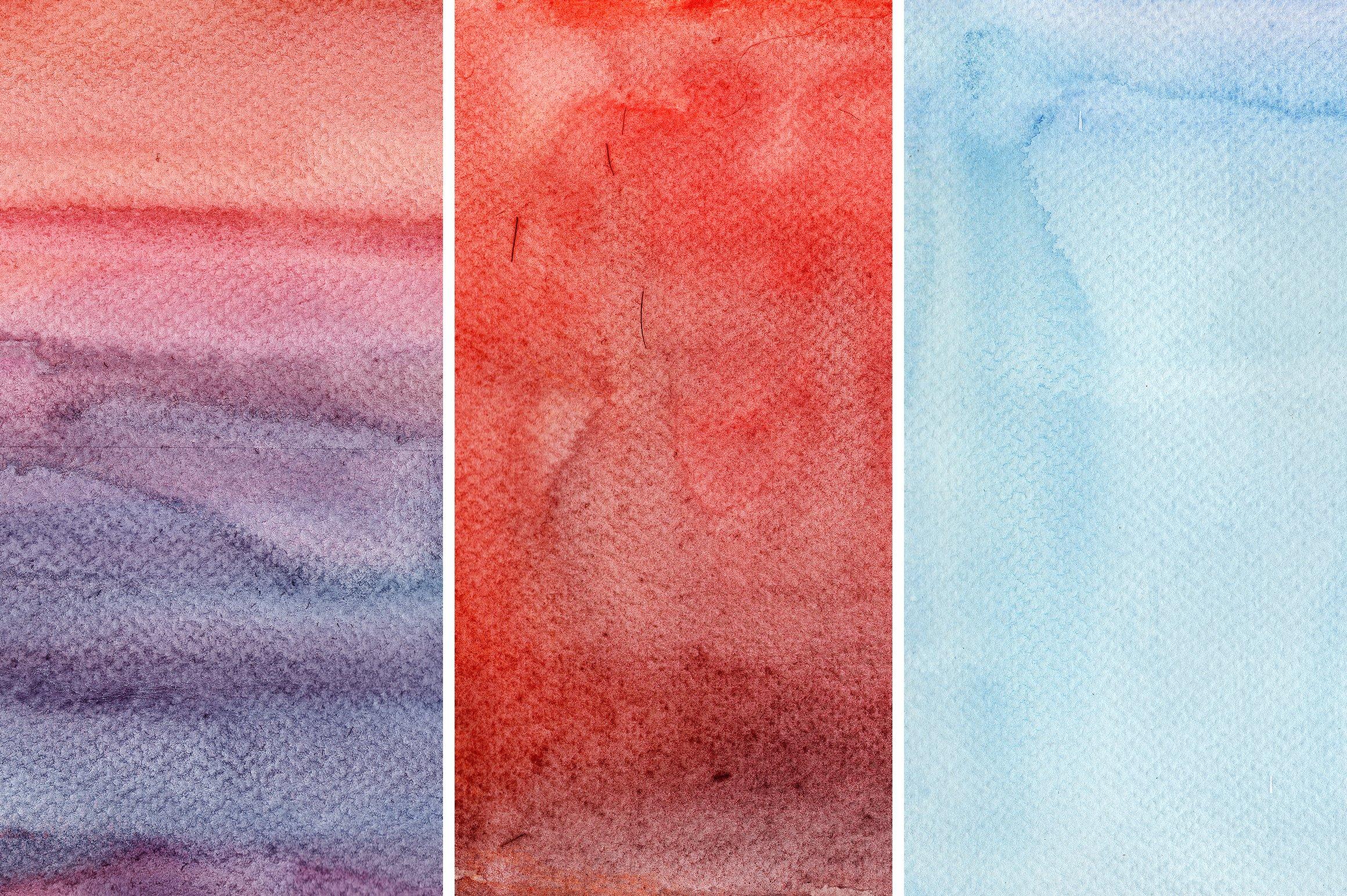 11款高清水彩颜料渗透流动痕迹背景图片素材 Watercolor Washes Textures Volume 01插图(2)