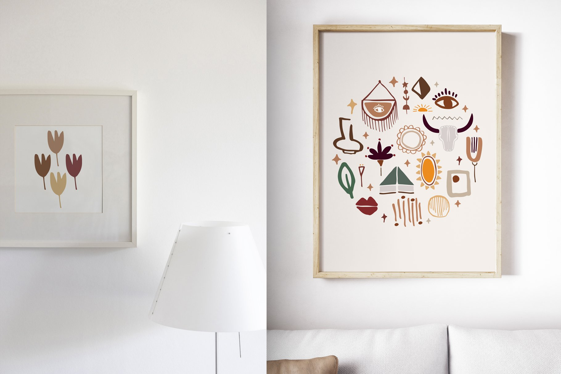 400多个波西米亚元素装饰图案背景AI图片素材 Boho Philosophy Collection插图(4)