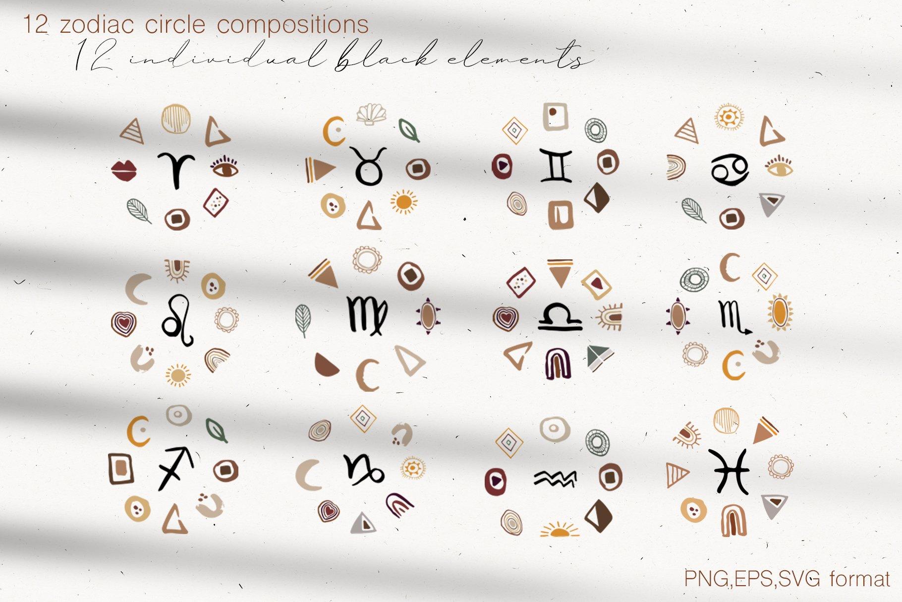 400多个波西米亚元素装饰图案背景AI图片素材 Boho Philosophy Collection插图(8)