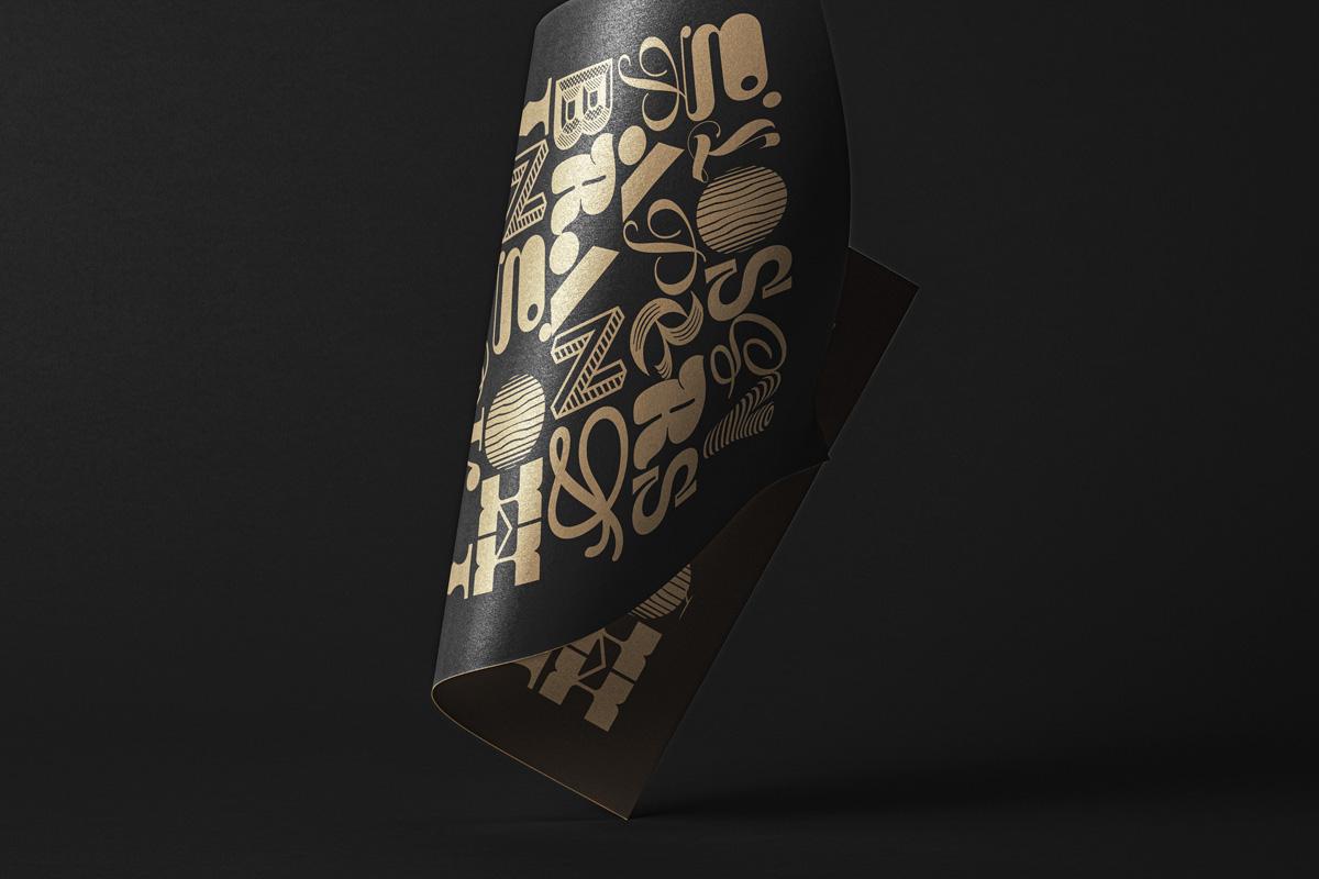 悬浮光泽海报宣传单页设计展示样机 Folded Psd Paper Mockup插图