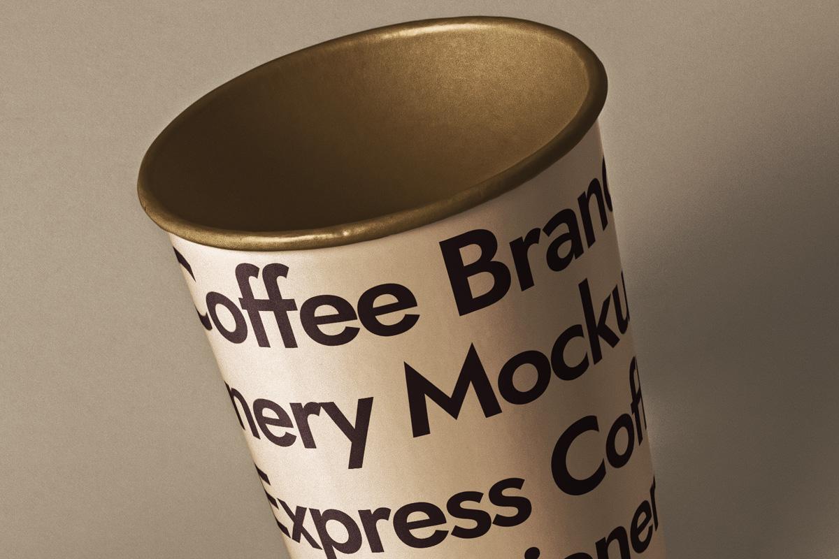咖啡品牌设计名片纸杯展示样机模板 Branding Psd Coffee Set Mockup插图(3)