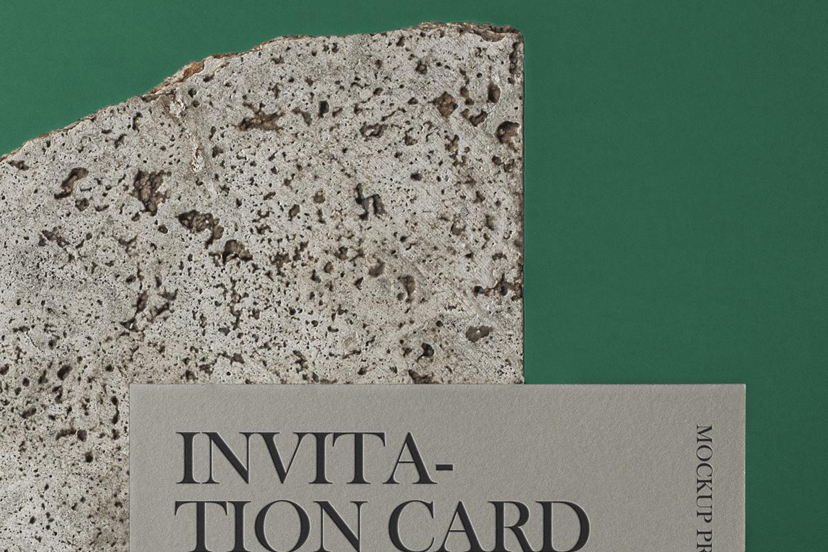 邀请卡信封设计展示样机模板 Psd Invitation Mockup Set插图(3)