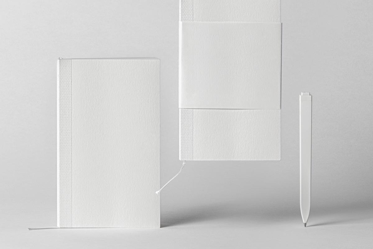 棉面笔记本设计展示样机PSD模板 Cotton Psd Notebook Mockup插图(5)