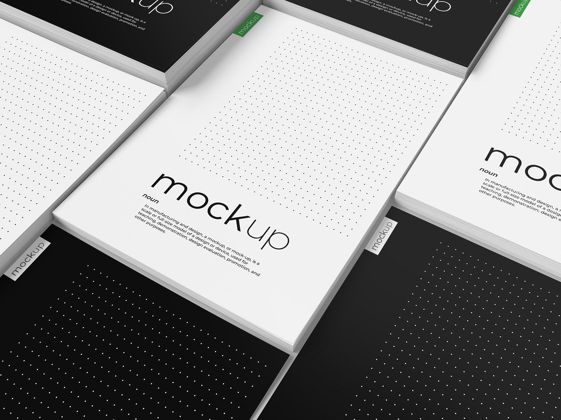 9款传单海报简历设计展示样机模板 Flyer Poster CV Mockup 2插图(7)