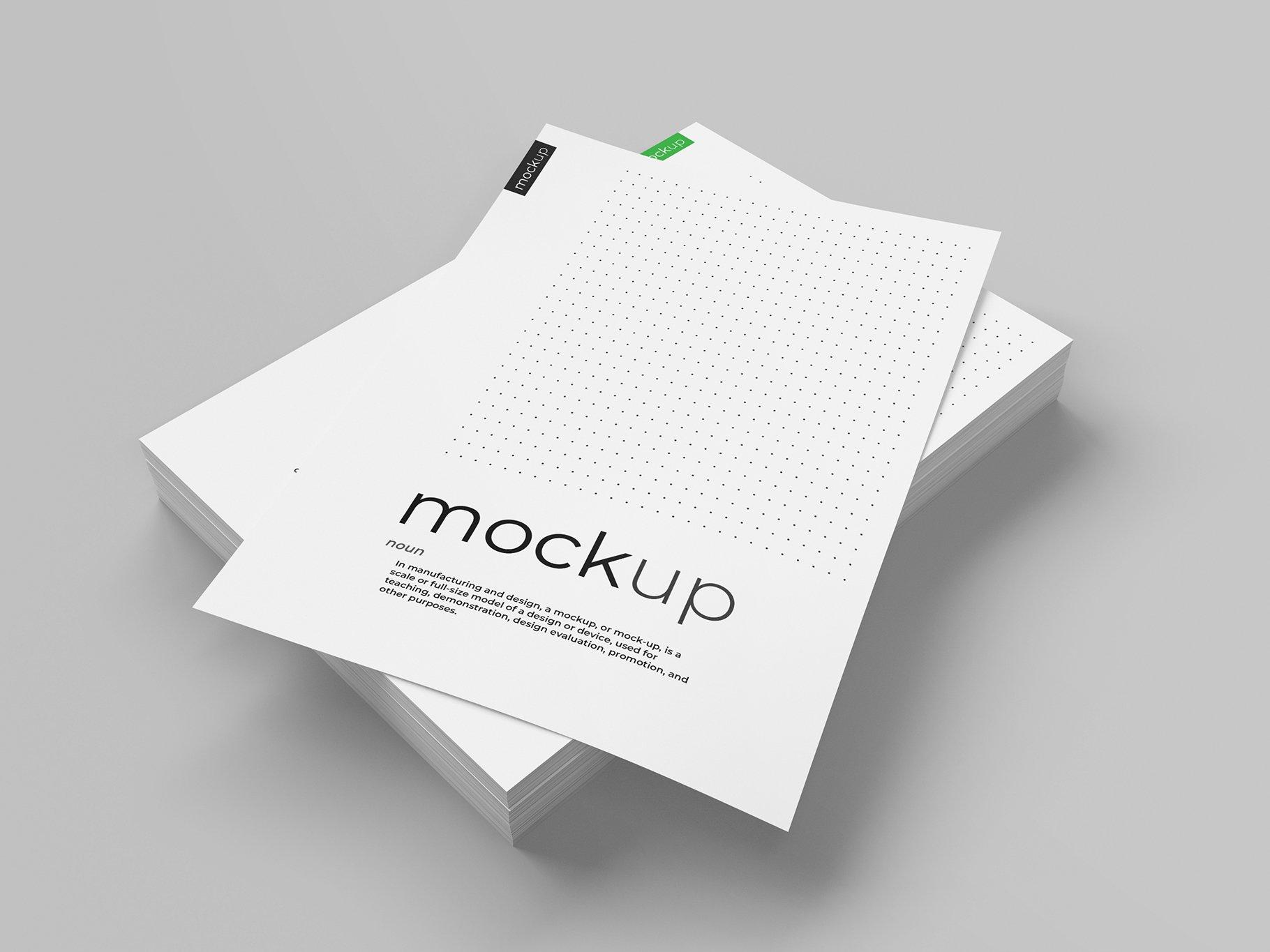 9款传单海报简历设计展示样机模板 Flyer Poster CV Mockup 2插图(8)