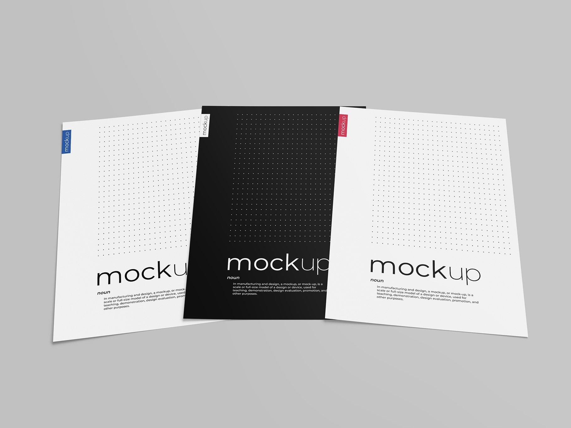 9款传单海报简历设计展示样机模板 Flyer Poster CV Mockup 2插图(9)