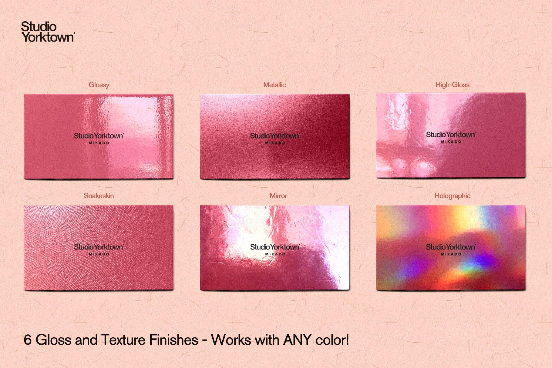 [淘宝购买] 潮流炫彩压印效果商务名片卡片设计贴图样机模板 Studio Yorktown – Mikado Business Card Mockup Template插图1