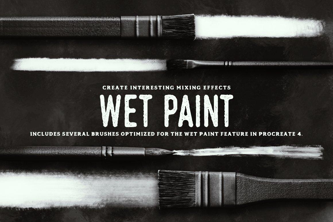24款油画颜料丙烯酸绘画笔触Procreate笔刷 Paint Procreate Brushes插图(1)