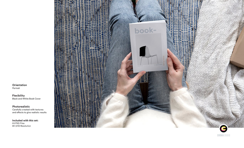 22款精装书画册封面设计展示样机PSD模板 Book Cover Mockups Pack插图(1)