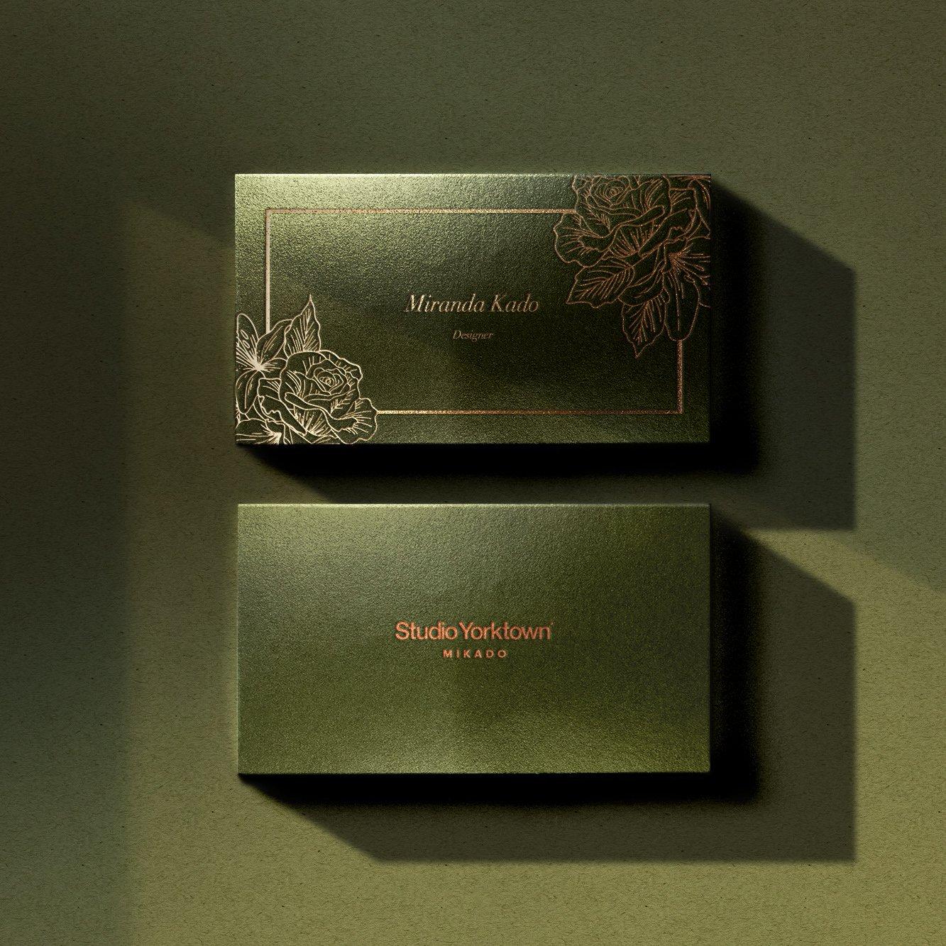 [淘宝购买] 潮流炫彩压印效果商务名片卡片设计贴图样机模板 Studio Yorktown – Mikado Business Card Mockup Template插图12