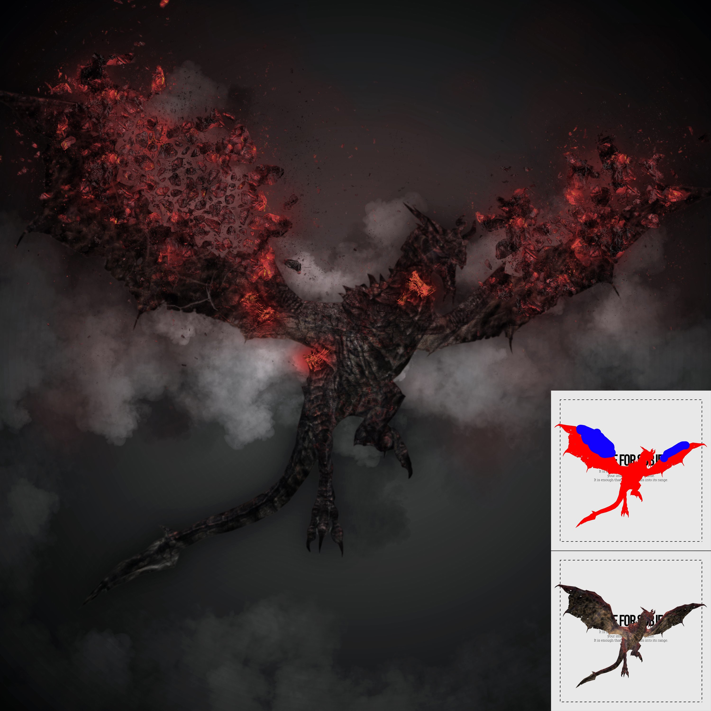 炫酷熔岩烧焦破碎效果照片处理特效PS动作模板 Demogorgon Photoshop Action插图(2)
