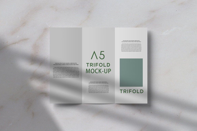 三折页小册子设计展示贴图样机PS素材 Trifold Brochure Mockup插图(2)