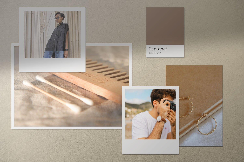 时尚剪贴相片情绪版卡片设计展示样机模板 Moodboard Mockup Kit插图(4)