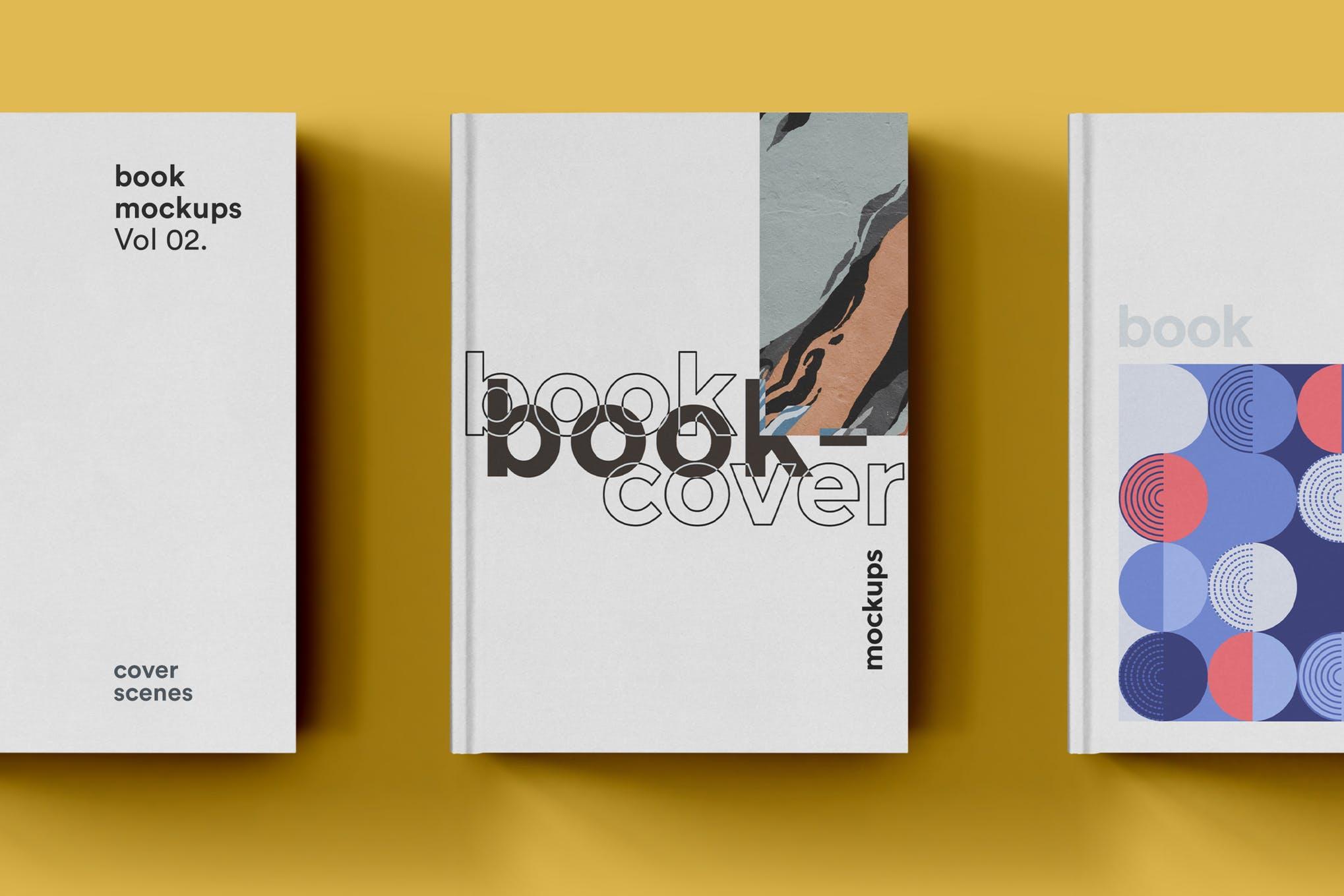 22款精装书画册封面设计展示样机PSD模板 Book Cover Mockups Pack插图(5)