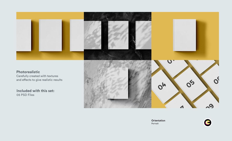 22款精装书画册封面设计展示样机PSD模板 Book Cover Mockups Pack插图(6)