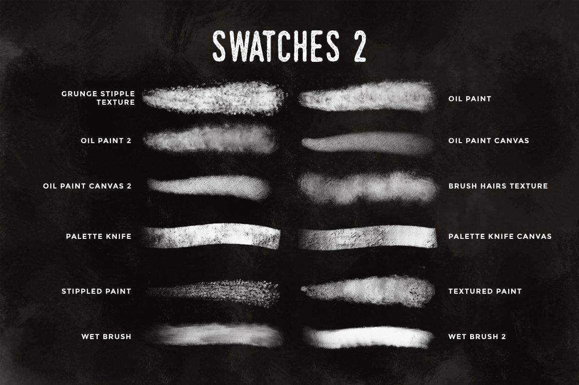 24款油画颜料丙烯酸绘画笔触Procreate笔刷 Paint Procreate Brushes插图(6)