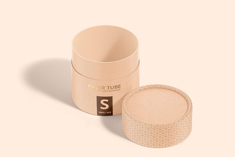 茶叶产品纸管包装罐设计展示贴图样机模板合集 Paper Tube Mockup Set 1插图(6)