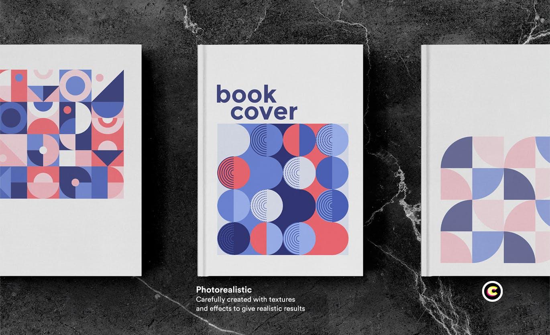 22款精装书画册封面设计展示样机PSD模板 Book Cover Mockups Pack插图(8)