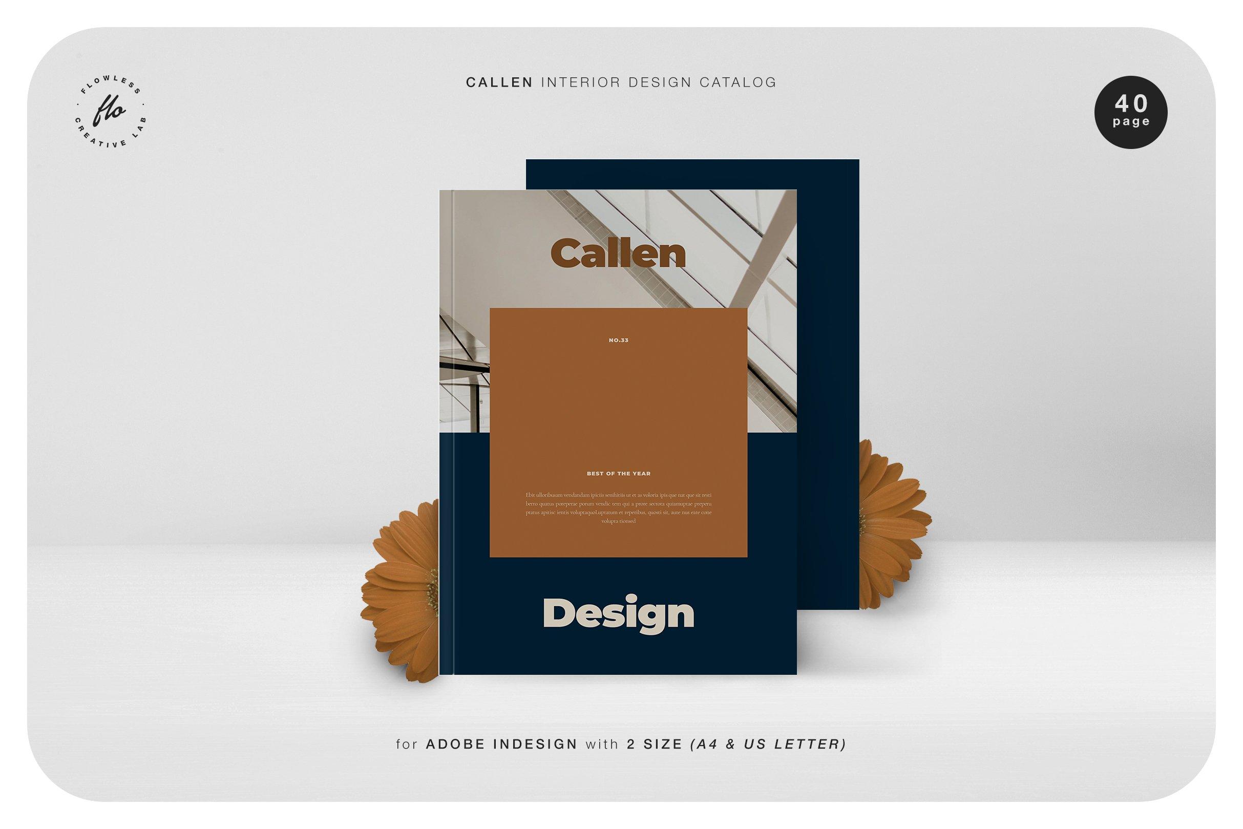 室内设计摄影作品集目录INDD画册模板 CALLEN Interior Design Catalog插图