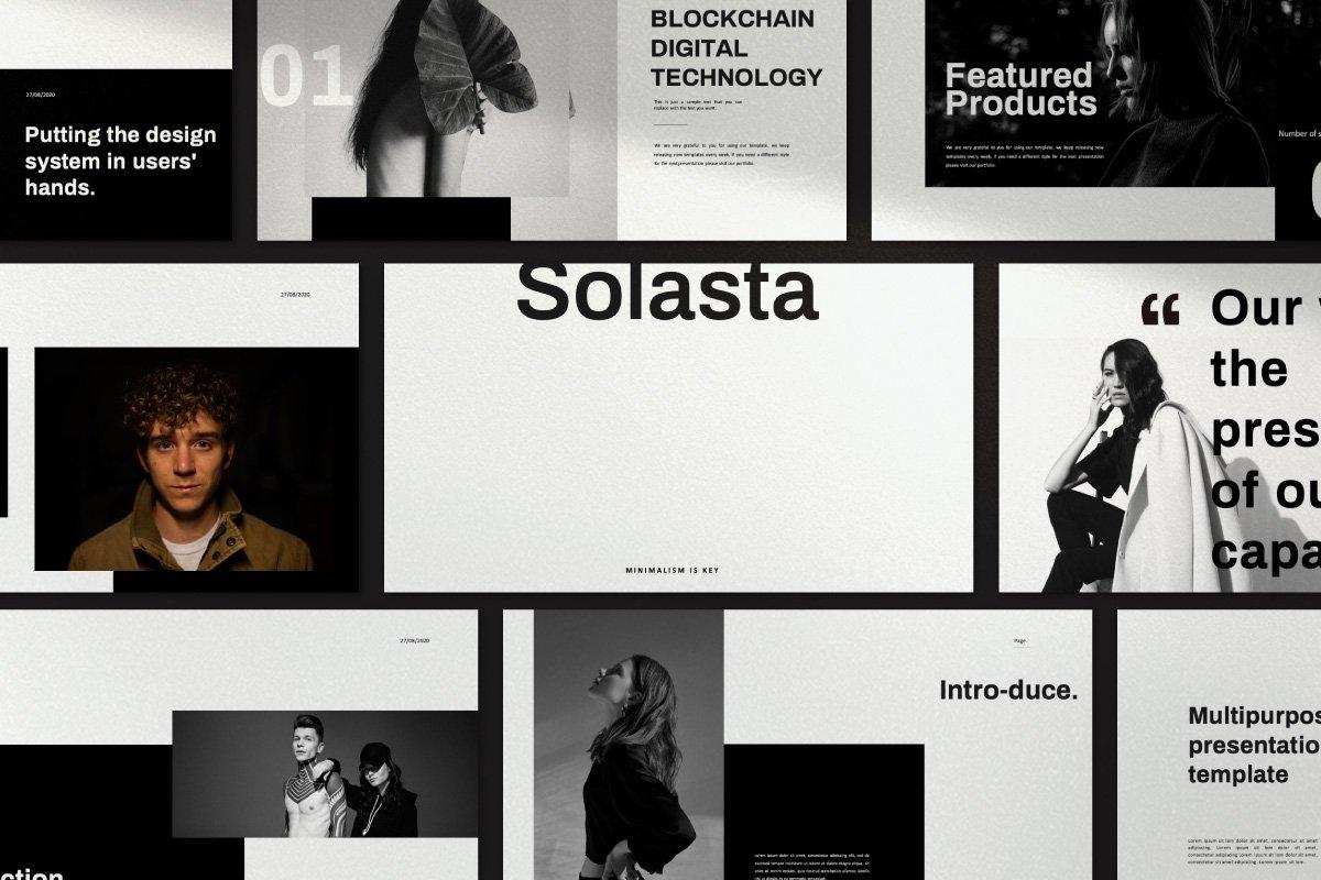 黑白调摄影作品集设计演示文稿模板 Solasta – Powerpoint插图