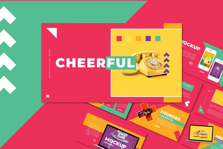 多彩营销策划案PPT幻灯片设计模板 Cheerful – Power Point Template插图