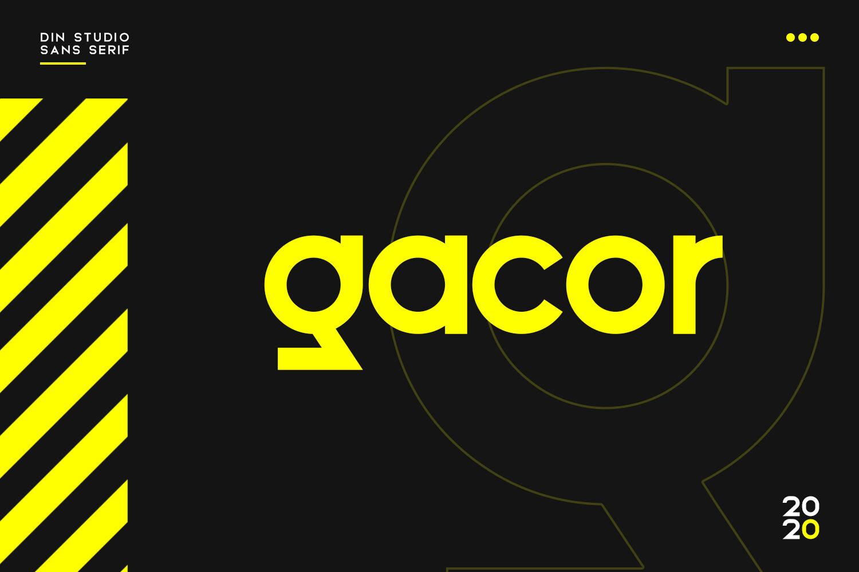 优雅品牌LOGO徽标标题文字设计无衬线英文字体下载 Gacor-Urban Sans Serif Font插图